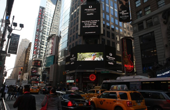 New Flint & Genesee  Campaign Hits Times Square!