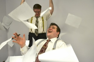 Chazz Irwin and Paul Docter are two of the cast members in this comedy. Photo by Shelby Newport.