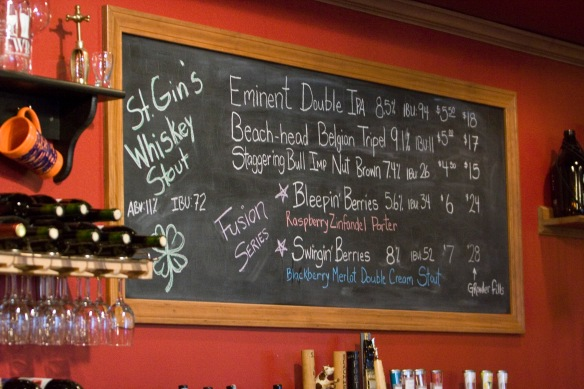 A glimpse of the selection at the Fenton Winery & Brewery