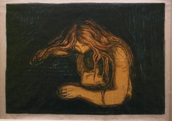 Vampire II by Edvard Munch